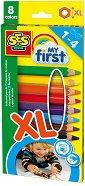 Моите първи цветни моливи - Комплект от 8 цвята