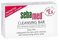 """Sebamed Cleansing Bar - Сапун за лице и тяло за чувствителна кожа от серията """"Sensitive Skin"""" - олио"""