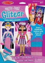 """Направи сама блестящи картини - Модно ревю - Творчески комплект от серията """"Mess-Free Glitter"""" - творчески комплект"""