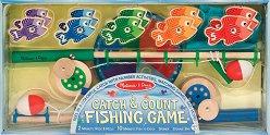 Риболов - Детска дървена играчка с магнити -
