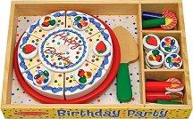 Торта - Комплект дървени фигури - играчка