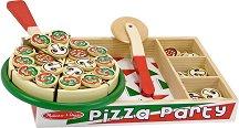 Пица парти - Комплект дървени фигури -