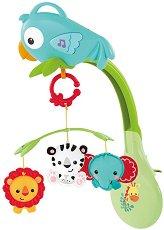 Музикална въртележка - Rainforest Friends - Играчка за детско легло и количка -