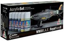 Acrylic Set - WWII R.A.F. Royal Navi II - Комплект акрилни боички - макет