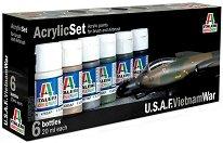 Acrylic Set - U.S.A.F. Vietnam War - Комплект акрилни боички - макет