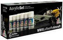 Acrylic Set - WWII Luftwaffe Aircraft - Комплект акрилни боички - макет
