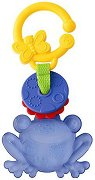 Жабка - Бебешка играчка за детска количка и легло с дъвкалка - фигура