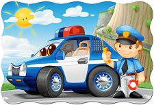 Полицейски патрул - Пъзел с едри елементи -