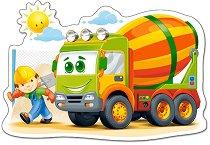 Камион - Пъзел в нестандартна форма с едри елементи -