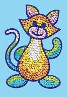 Направи сама картина с пайети - Котка - Творчески комплект -