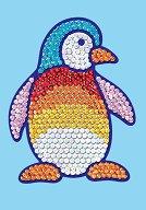 Направи сама картина с пайети - Пингвин - Творчески комплект - творчески комплект