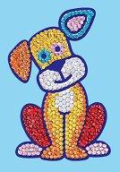 Направи сама картина с пайети - Кученце - Творчески комплект - играчка