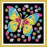 Направи сама картина с пайети - Пеперуда - Творчески комплект - продукт