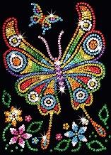Направи сама картина с пайети - Пеперудата Амбър - Творчески комплект - творчески комплект