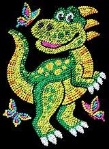 Направи сама картина с пайети - Динозавърчето Декстър - Творчески комплект - детски аксесоар
