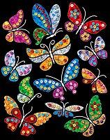 Направи сама картина с пайети и цветно фолио - Пеперуди - Творчески комплект - несесер