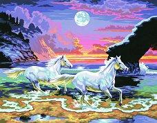Нарисувай сам шедьовър - Бягащи коне - Творчески комплект - продукт