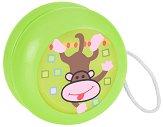 Дървено йо-йо - Маймунка - Детска играчка - играчка