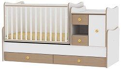 Трансформиращо се детско легло - MiniMax - Цвят бял и бук -