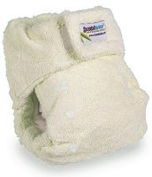 """Кремава бамбукова пелена за многократна употреба - От серия """"Бамбук"""" за деца от 3.5 kg до 15 kg -"""