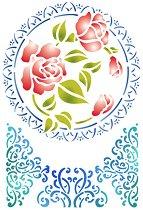Шаблон - Рози и орнаменти - Размери 21 x 29.7 cm
