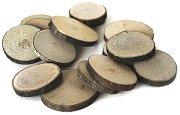 Натурални кръгли дървени шайби