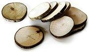 Натурални кръгли дървени шайби - Предмети за декориране с диаметър от 4 до 5 cm