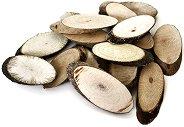 Натурални овални дървени шайби - Предмети за декориране с ширина от 2 до 5 cm