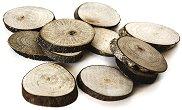Натурални овални дървени шайби - Предмети за декориране с диаметър от 3 до 4 cm