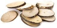 Натурални овални дървени шайби - Предмети за декориране с ширина от 4 до 6 cm
