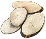 Натурални овални дървени шайби - Предмети за декориране с ширина от 5 до 9 cm
