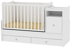 Трансформиращо се детско легло - Trend Plus - Цвят бял -
