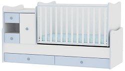 Трансформиращо се детско легло - MiniMax - Цвят бял и син -