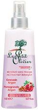 """Le Petit Olivier Pomegranate Argan No-Rinse Hair Detangler - Двуфазен спрей за боядисана и изрусена коса с нар и арган от серията """"Pomegranate Argan"""" - фон дьо тен"""