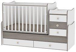 Трансформиращо се детско легло - Maxi Plus - Цвят бял и кафе -