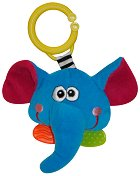Дрънкалка с дъвкалка - Слонче - Плюшена играчка за детска количка или легло -