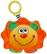 Дрънкалка с дъвкалка - Лъвче - Плюшена играчка за детска количка или легло - играчка