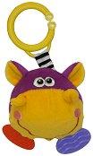 Дрънкалка с дъвкалка - Хипопотамче - Плюшена играчка за детска количка или легло -
