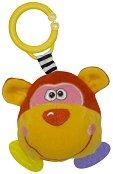 Дрънкалка с дъвкалка - Маймунка - Плюшена играчка за детска количка или легло -