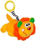 Плюшено лъвче - Дрънкалка с вибрация за детска количка или легло -