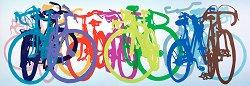 """Цветна редица - панорама - Колекция """"Bike Art"""" - пъзел"""