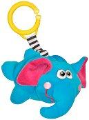 Плюшено слонче - Дрънкалка с вибрация за детска количка или легло - играчка