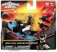 """Черен рейнджър с мотор - Играчка от серията """"Power Rangers Megaforce"""" -"""