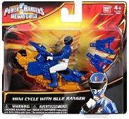 """Син рейнджър с мотор - Играчка от серията """"Power Rangers Megaforce"""" -"""