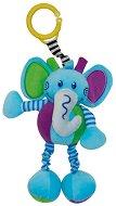 Плюшен слон - Играчка с вибрация за детска количка или легло - играчка