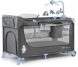 Сгъваемо бебешко легло на две нива - Joy Full - Комплект с люлеещ механизъм и аксесоари -