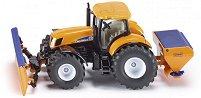 """Трактор с плуг и разпръсквач на сол - Метална количка от серията """"Super: Winter"""" - играчка"""