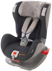 Детско столче за кола - Glider Softy: Black Gray -