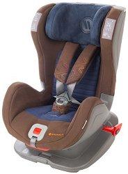Детско столче за кола - Glider Softy: Brown Blue -