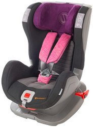 Детско столче за кола - Glider Softy: Black Pink -